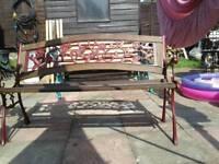 3 garden benches