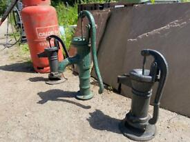 Large heavy old reclaimed garden water pump - CHOICE