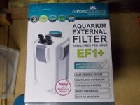 External aquarium filter with UV steriliser, new in box.