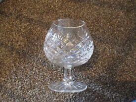 Cut crystal glasses & matching dish/bowl...