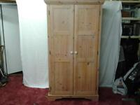 DOUBLE PINE WARDROBE COULD BE PAINTED SHABBY CHIC