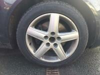 Alloy wheels with tyres Audi vw skoda seat 5x112 full set of 5 wheels
