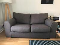 Next brown fabric 2 seater sofa bed