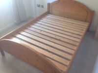 Solid pine double bed frame