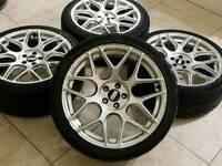 "18"" Bbs style japan racing alloy wheels 5x100 Audi A3 TT VW Golf bora GTI seat leon skoda fabia vrs"