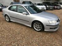 SAAB 9-3 2.0 AERO T 4d AUTO 210 BHP FIRST TO SEE WILL BUY (silver) 2006