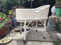 Vintage baby cot