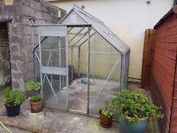Glass & Metal Framed Greenhouse 6 x 8ft
