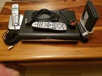 sky box+ remote/ cables/ phone/ wifi router