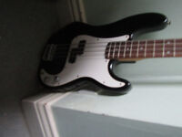 Squire P Bass guitar for sale with small AMP