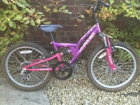 Girls Apollo 6 gear Full Suspension bike for age 4-7 Years