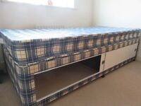 Single bed with mattress 90x190cm