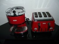 delonghi toaster and coffe machine