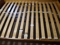 Ikea Leksvik king size bed with sprung slats
