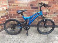 """Boys bike Muddy Fox Radar 13"""" Frame 20"""" Wheels 6 speed York Free local delivery"""