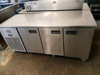 foster commercial three door under counter freezer,fridge,catering equipment,takeway,restaurant,pub