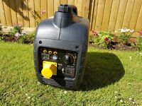 Loncin suitcase silent generator -as new petrol generator is ideal for tools or caravanning