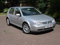 EXCELLENT EXAMPLE!! 2002 VOLKSWAGEN GOLF 1.9 130 GT TDI PD 5dr 6 SPEED, 1 YEAR MOT, WARRANTY