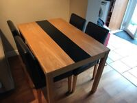 Wooden Ashford Dinning table and Chairs