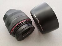 Canon 85mm 1.2 L II USM £1000 Mint condition
