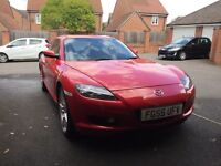 Mazda RX8 RX-8 in Red, MOT and Perfect Working Order