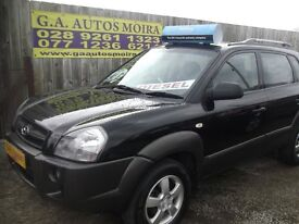 2006 HYUNDAI TUCSON 2.0 4X4 BLACK CRTD GSI SIX SPEED MODEL ( CHOISE ) !!!!