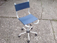 SWIVEL OFFICE CHAIR WITH ADJUSTABLE HEIGHT £9