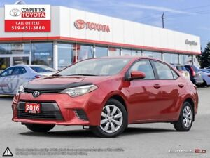 2016 Toyota Corolla LE Toyota Certified, One Owner, No Accide...