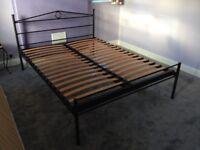 Art Deco King Size Metal Frame Bed