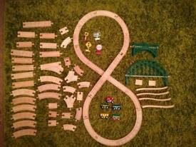 Wooden Train Tracks, 69 pieces