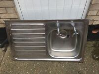Stainless steel large kitchen sink
