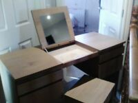 Dressing table and matching bedside tables