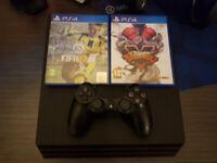 PlayStation 4 Pro + FIFA + God of War + Red Dead 2 + Spider Man + Guitar Hero + Street Fighter+ More