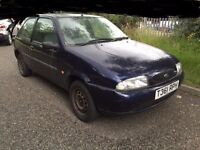 1999 FORD FIESTA 3 DOOR HATCHBACK BLUE SPARES OR REPAIRS WHOLE CAR OR FOR PARTS CHEAP CAR NON RUNNER