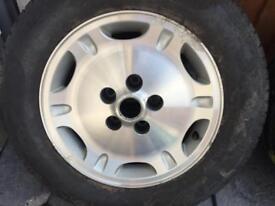 Jaguar alloy wheel with tyre