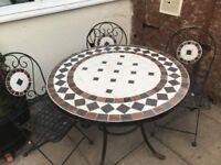 Mosaic bistro garden set
