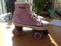Roller skates - Lilac Retro canvas converse - size 6