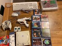 SEGA Dreamcast with games, accessories and RARE NEW & UNUSED Arcade stick
