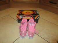 Girls Size 2 Heelys complete with box and instructions, unused gift in perfect condition