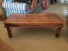 (Price reduced!) Rustic Coffee table (import from India, we believe)