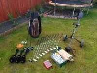 Full set FILA Golf Clubs, bag, trolley plus accesories