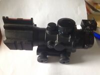 Air soft scope. 4x QDC for weaver picatinny, illuminated reticule.