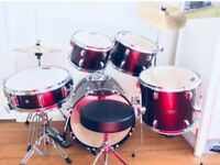 Mapex Tornado Burgundy Drum Kit Inc Cymbals & Stands