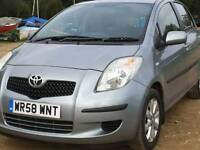 Toyota yaris tr 1.2 5dr ,2009 ,ac, 74k miles ,px/well,remote locking, f,s,h 1 keeper