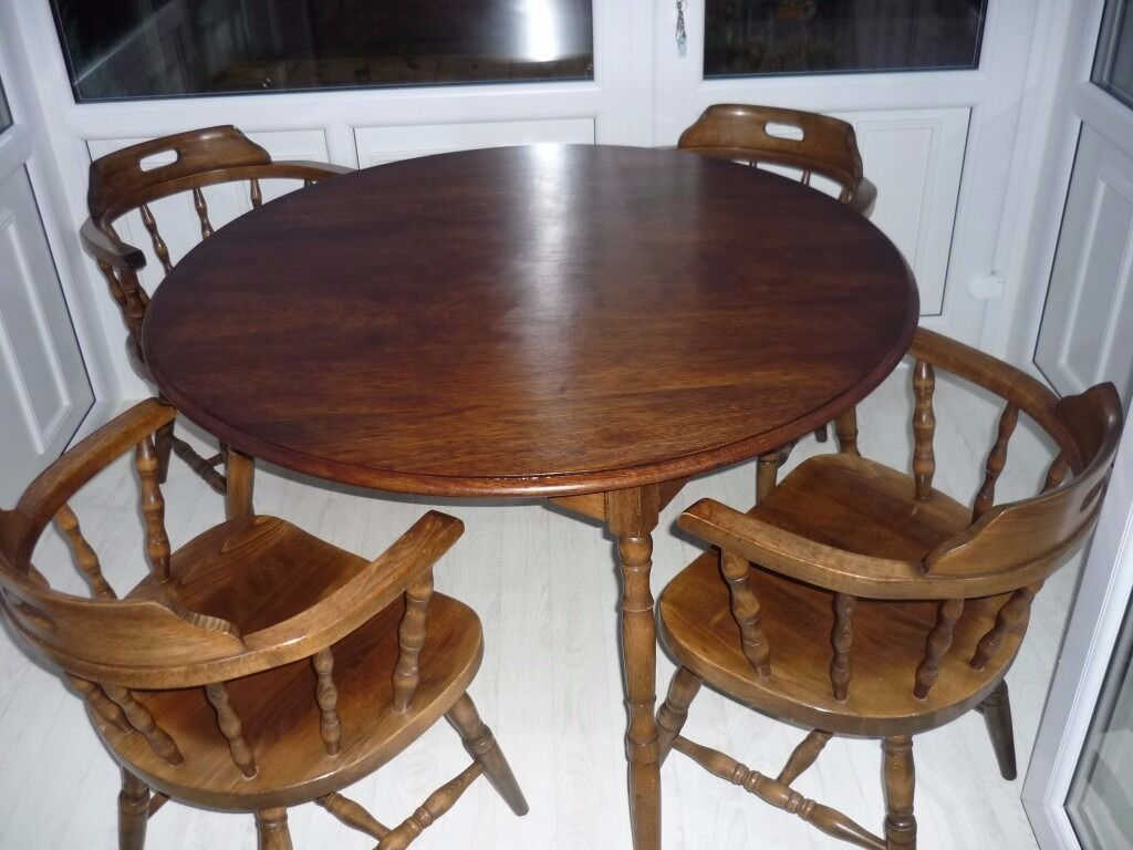 Cottage Vintage captains chairs and table WALNUT  : 86 from www.gumtree.com size 1024 x 768 jpeg 95kB
