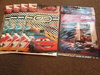 Cars party bags x 4 packs and a large door banner