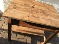 Vintage Pine kitchen work table island
