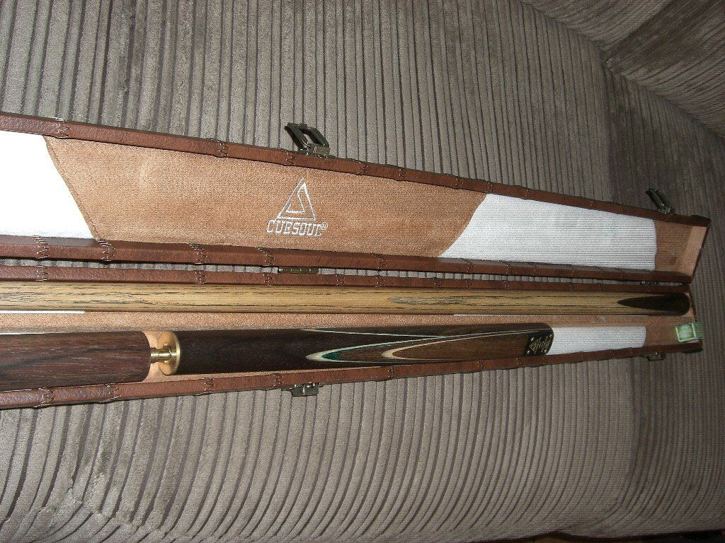 CUESOUL Classic Handmade Rosewood 3/4 Piece Snooker Cue + Case + Extension