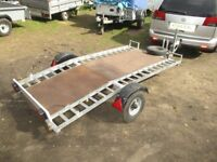 GALVANISED 8 X 4 TILTBED (500KG) BEAVERTAIL TRAILER UNBRAKED...............