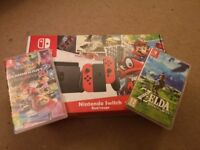Nintendo Switch Super Mario Odyssey Limited Edition + Zelda + Mario Kart + Case!